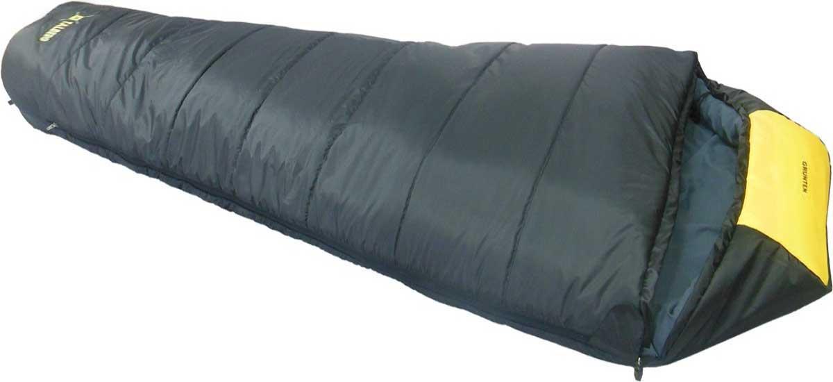 Спальный мешок-кокон Talberg Grunten -16C, левосторонняя молния, цвет: темно-серый