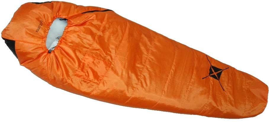 Спальный мешок-кокон Talberg Kratzer +2C, левосторонняя молния, цвет: оранжевый платье для матери невесты taffeta md327