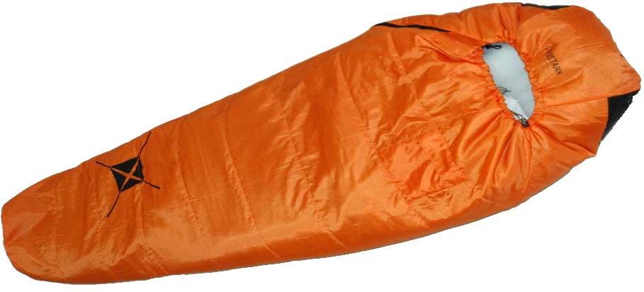 Спальный мешок-кокон Talberg Kratzer +2C, правосторонняя молния, цвет: оранжевый