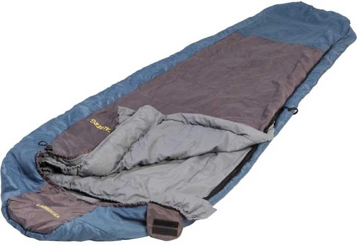 Спальный мешок-кокон Talberg Kronsberg 0C, правосторонняя молния, цвет: синий