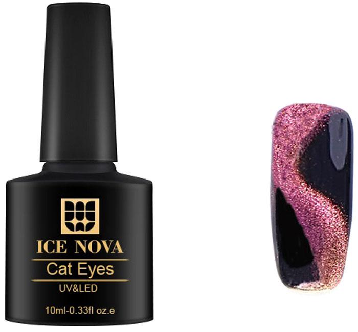 Ice Nova Гель-лак с эффектом Кошачий глаз VIP 5D, тон № 1, 10 мл гель лак кошачий глаз перс solomeya vip cat eye 4 persian
