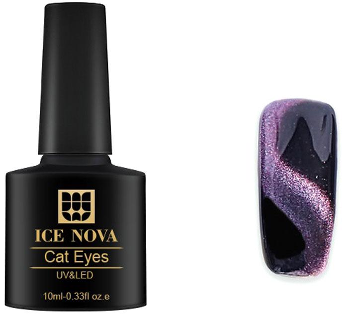 Ice Nova Гель-лак с эффектом Кошачий глаз VIP 5D, тон № 4, 10 мл nova гель лак 092 merlot