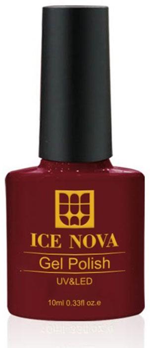 Ice Nova Гель-лак для ногтей, тон № 046, 10 мл лак для ногтей dance legend gel polish 046 цвет 046 monroe variant hex name ce0b0f