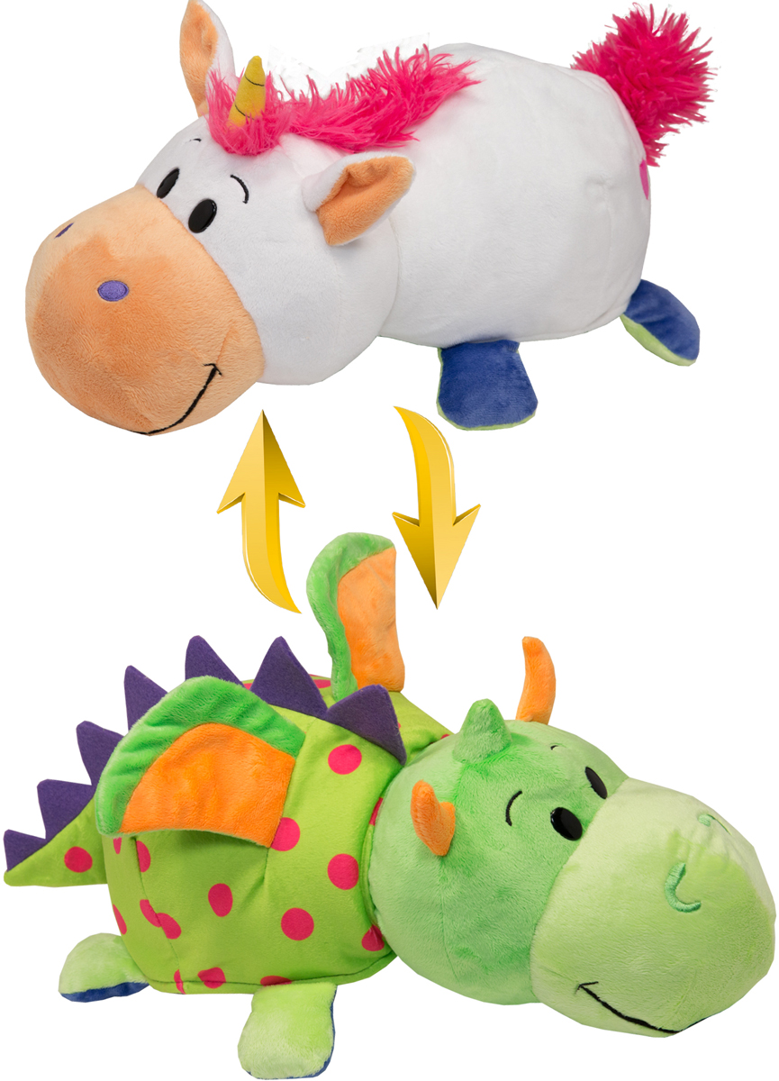 1TOYМягкая игрушкаВывернушка 2в1 Единорог-Дракон длина 35 см мягкие игрушки simba mia and me единорог onchao 30 см