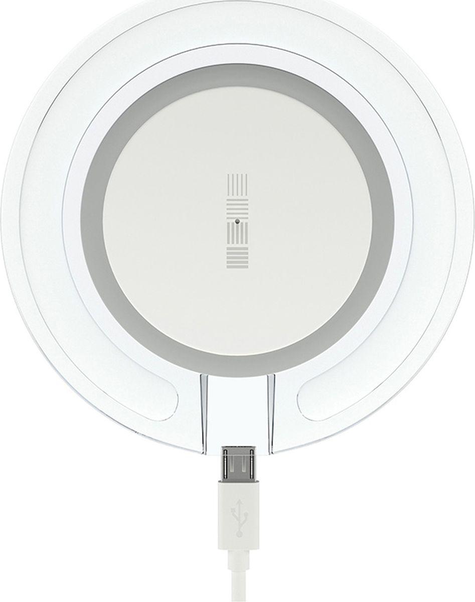 Interstep QI 1,5А, White Blue беспроводное зарядное устройство bradex su 0053 white беспроводное зарядное устройство