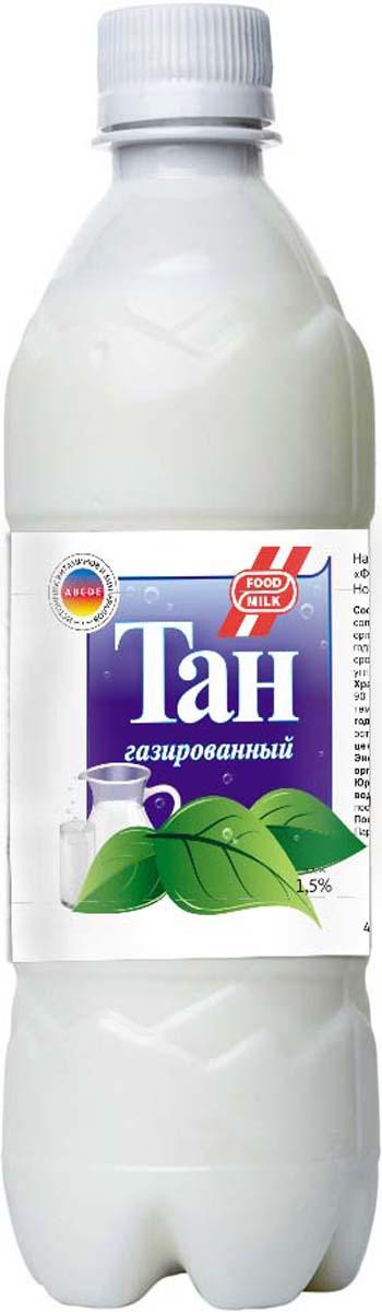 Food milk Тан газированный 1,5 %, 500 мл пудовъ ржаной хлеб с клюквой и анисом 500 г