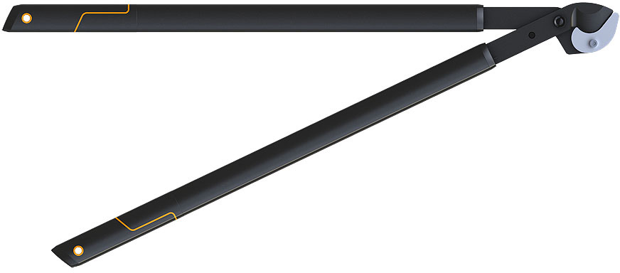 Сучкорез большой плоскостной Fiskars, с загнутыми лезвиями, 82 см средний плоскостной сучкорез с загнутыми лезвиями fiskars m l75