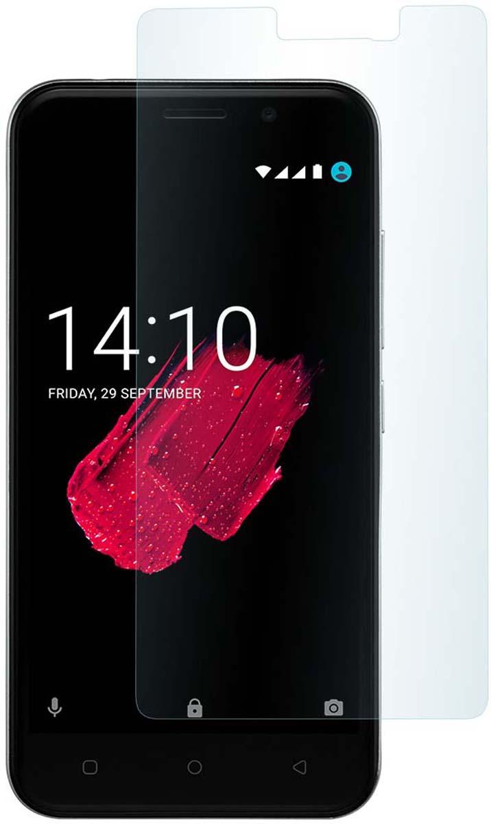 Skinbox защитное стекло 2.5D для Prestigio Grace P5, глянцевое смартфон prestigio grace p5 duo black psp5515