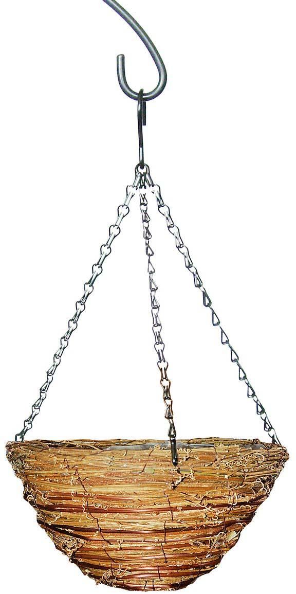 Кашпо плетеное Грин Бэлт, сфера, диаметр 30 см