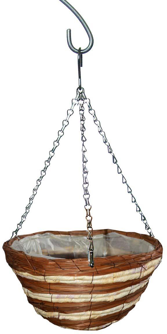Кашпо плетеное Грин Бэлт Сфера-1, подвесное, диаметр 30 см кашпо подвесное плетеное keter page 9