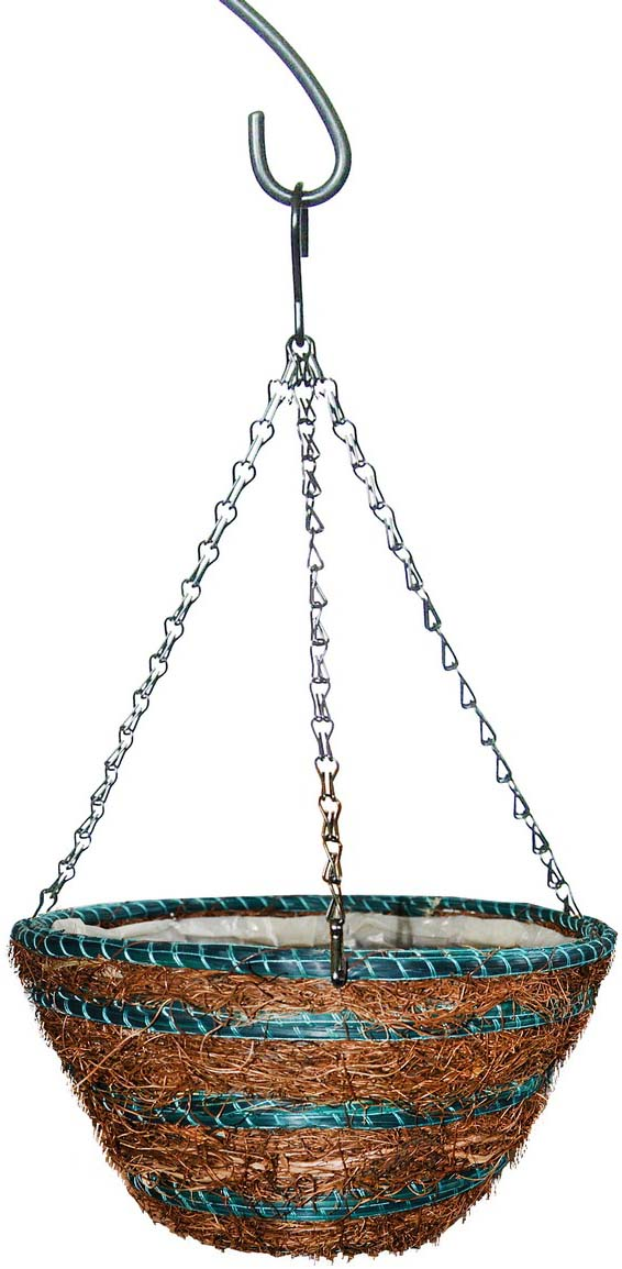 Кашпо плетеное Грин Бэлт Сфера-3, подвесное, диаметр 30 см кашпо подвесное плетеное keter page 9