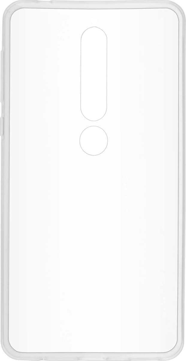 Skinbox Slim Silicone 4People чехол для Nokia 6 (2018), Transparent remax protective silicone back case w screen protector film for nokia lumia 820 translucent white
