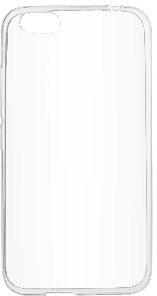 Skinbox Slim Silicone чехол для Prestigio Grace M5, Transparent аксессуар чехол накладка для meizu m5 skinbox silicone chrome border 4people gold t s mm5 008