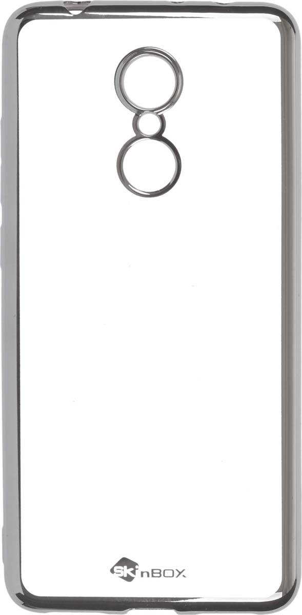 Skinbox Silicone Chrome Border 4People чехол для Xiaomi Redmi 5, Silver