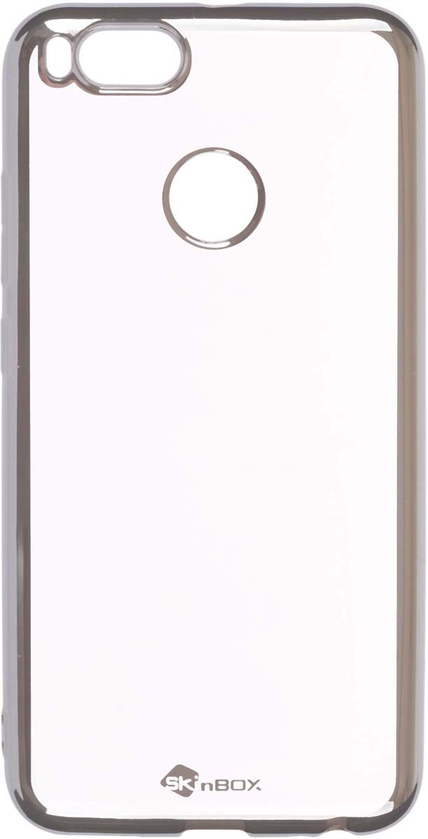 Skinbox Silicone Chrome Border 4People чехол для Huawei Honor 7X, Silver цена и фото