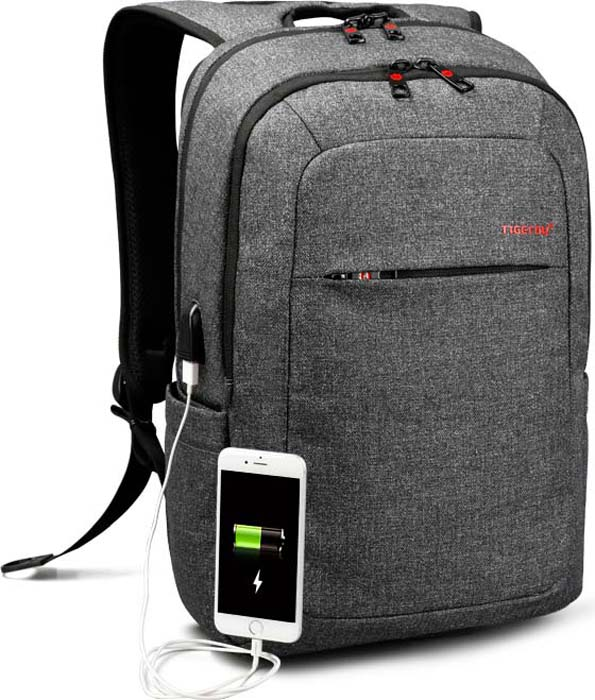 Tigernu T-B3090A Dark Grey, рюкзак для ноутбука 15