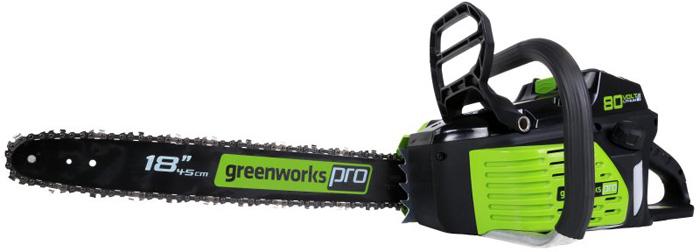 Пила цепная аккумуляторная Greenworks, бесщеточная, без аккумулятора и зарядного устройства, 80V 2000507