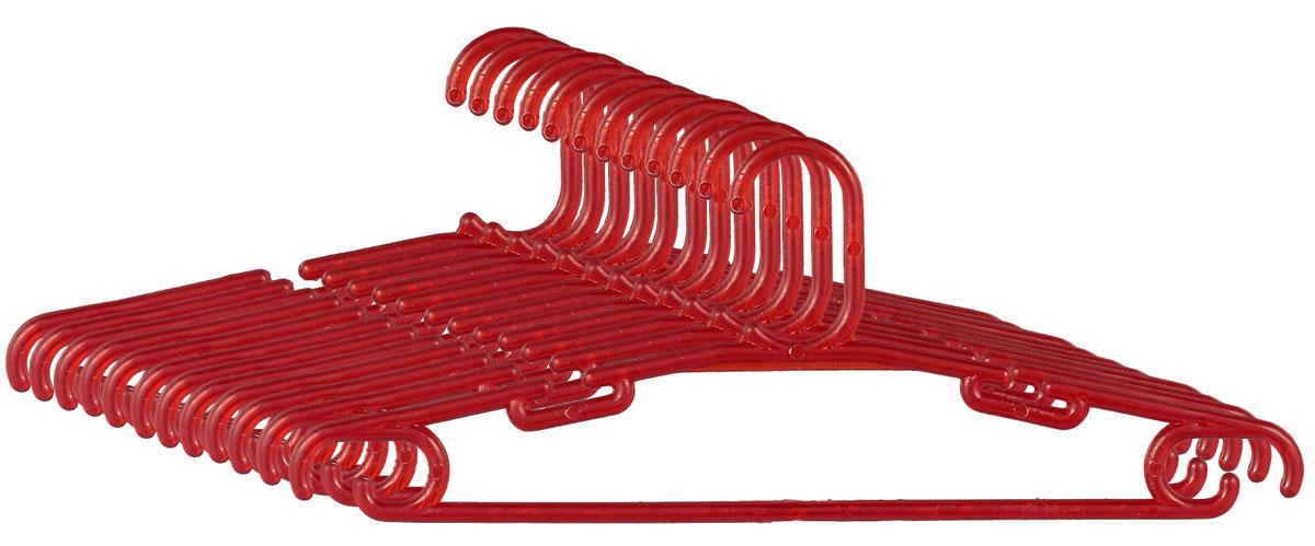 Набор вешалок для одежды Miolla, цвет: красный, длина 33 см вешалка для одежды miolla цвет черный длина 45 см