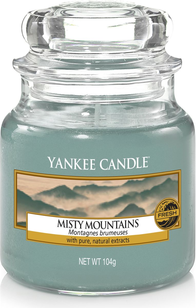Свеча ароматизированная Yankee Candle Туманные горы / Misty Mountains, цвет: голубой, высота 8,6 см отсадник для рыб hagen