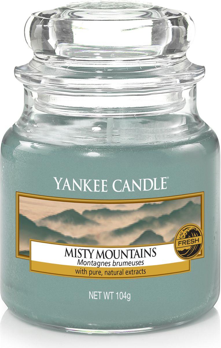 Свеча ароматизированная Yankee Candle Туманные горы / Misty Mountains, цвет: голубой, высота 8,6 см apple apple iphone 6s plus 32gb gold