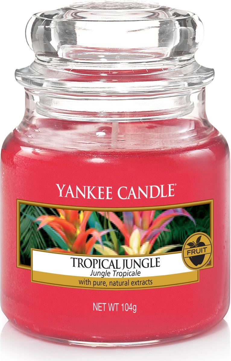 Свеча ароматизированная Yankee Candle Тропические джунгли / Tropical Jungle, цвет: красный, высота 8,6 см свеча ароматизированная yankee candle сладость 623 г