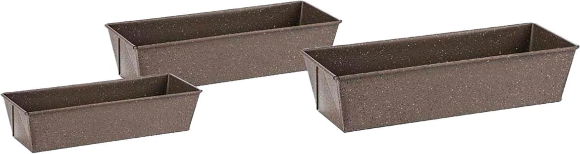 Набор форм для выпечки Zeidan Gravel, цвет: серый, 3 предмета. Z-1252 набор из 3 х плетеных корзин ql400339