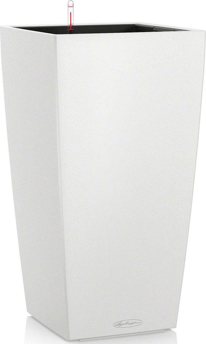 """Кашпо Lechuza """"Color Cubico"""", с системой автополива, цвет: белый, 30 х 30 х 56 см"""