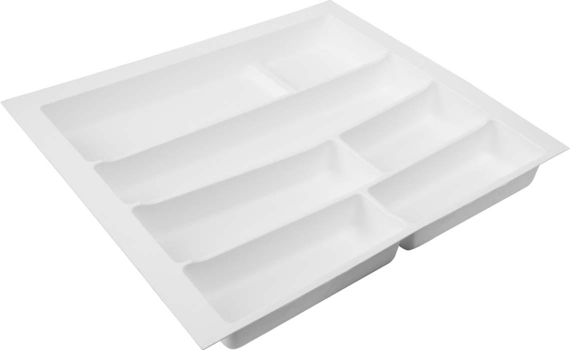 Лоток для столовых приборов изготовлен из прочного и экологически чистого пластика.В такой лоток поместится большое количество столовых приборов, при этом они будут упорядочены. Лоток легко достать и помыть в случае необходимости.Благодаря наличию широких и мягких бортов лоток легко подогнать под нужный размер ящика.