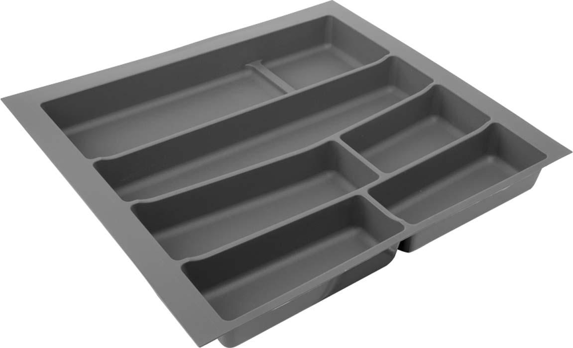 Лоток для столовых приборов VOLPATO, цвет: темно-серый, 54 х 49 х 5 см