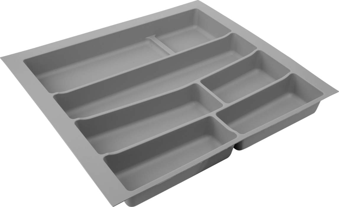 Лоток для столовых приборов VOLPATO, цвет: серый, 54 х 49 х 5 см лоток д столовых приборов 6 ти местный пластик