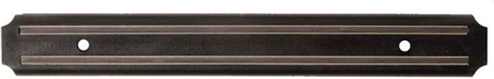 Магнитный держатель Regent Inox - это удобное приспособление, которое обязательно пригодится хозяйке на кухне. Держатель предотвратит контакт ножей друг с другом и остальными столовыми приборами, что позволит ножам дольше оставаться острыми и пригодными для любых нагрузок. Аксессуар легко прикручивается к стене при помощи двух шурупов. Характеристики: Материал: металл. Размер держателя: 33 см х 3 см х 1 см. Размер в упаковке: 36 см x 7 см x 1 см.