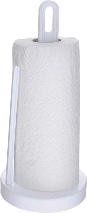 """Держатель Berossi """"Solo"""", изготовленный из высококачественного пластика, предназначен для бумажных полотенец. Изделие имеет широкое основание и оснащено зажимом, позволяющим без труда оторвать нужную длину полотенца. В комплекте - рулон бумажных полотенец.Такой держатель станет полезным аксессуаром в домашнем быту и идеально впишется в интерьер современной кухни."""