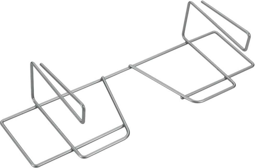 """Держатель Metaltex """"Wrap"""" предназначен для хранения бумаги и фольги. Он выполнен из высококачественной стали со специальным политермическим покрытием серебристого цвета """"Polyterm"""", которое не повредит вашу мебель. Благодаря компактным размерам держатель впишется в интерьер вашей кухни и позволит вам удобно и практично хранить фольгу и бумагу для выпечки. Вы можете закрепить держатель на внутренней или внешней части полки кухонной мебели, не прибегая к сверлению или приклеиванию."""