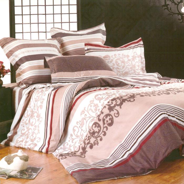 Комплект белья СайлиД Elyse, евро, наволочки 50x70, 70x70, цвет: персиковый, серый, розовый, белыйsail33321«Сайлид» - это известный бренд, который с 1996 года радует качественным постельным бельем и необычными дизайнами. Последние 10 лет фирма размещает все производственные мощности в Китае, чтобы снизить стоимость продукта для покупателей. «Сайлид» делает классическое хлопковое постельное белье из сатина и поплина, но не боится экспериментов и успешно продает коллекцию из тенсела – эвкалиптового волокна.Поплин – европейский аналог бязи. Это ткань самого простого полотняного плетения с чуть заметным рубчиком, который появляется из-за использования нитей разной толщины. Состоит из 100% натурального хлопка, поэтому хорошо удерживает тепло, впитывает влагу и позволяет телу дышать. На ощупь поплин мягче бязи, но грубее сатина. Благодаря использованию современных методов окраски, не линяет и его можно стирать при температуре до 40°C.