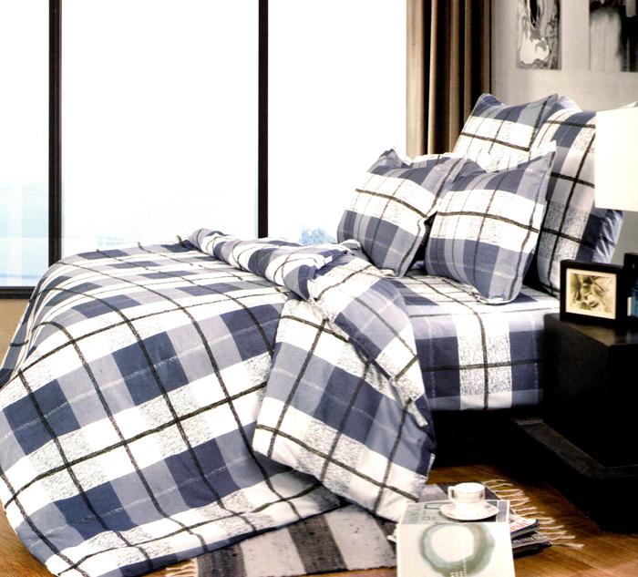Комплект белья СайлиД Maliyah, 2-спальный, наволочки 70x70, цвет: белый, серый, коричневыйsail34167«Сайлид» - это известный бренд, который с 1996 года радует качественным постельным бельем и необычными дизайнами. Последние 10 лет фирма размещает все производственные мощности в Китае, чтобы снизить стоимость продукта для покупателей. «Сайлид» делает классическое хлопковое постельное белье из сатина и поплина, но не боится экспериментов и успешно продает коллекцию из тенсела – эвкалиптового волокна.Поплин – европейский аналог бязи. Это ткань самого простого полотняного плетения с чуть заметным рубчиком, который появляется из-за использования нитей разной толщины. Состоит из 100% натурального хлопка, поэтому хорошо удерживает тепло, впитывает влагу и позволяет телу дышать. На ощупь поплин мягче бязи, но грубее сатина. Благодаря использованию современных методов окраски, не линяет и его можно стирать при температуре до 40°C.
