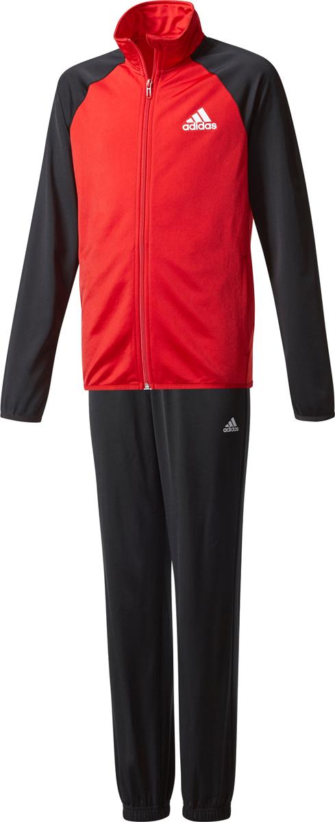 Спортивный костюм для мальчика Adidas Yb Ts Entry Ch, цвет: черный, красный. CE8588. Размер 128 шорты для мальчика adidas yb ess m3s wvsh цвет черный ab6025 размер 128