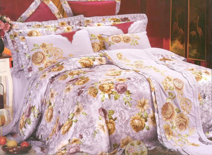 Комплект белья СайлиД Vendita, евро, наволочки 50x70, 70x70, цвет: сиреневый, желтыйsail51009«Сайлид» - это известный бренд, который с 1996 года радует качественным постельным бельем и необычными дизайнами. Последние 10 лет фирма размещает все производственные мощности в Китае, чтобы снизить стоимость продукта для покупателей. «Сайлид» делает классическое хлопковое постельное белье из сатина и поплина, но не боится экспериментов и успешно продает коллекцию из тенсела – эвкалиптового волокна.Поплин – европейский аналог бязи. Это ткань самого простого полотняного плетения с чуть заметным рубчиком, который появляется из-за использования нитей разной толщины. Состоит из 100% натурального хлопка, поэтому хорошо удерживает тепло, впитывает влагу и позволяет телу дышать. На ощупь поплин мягче бязи, но грубее сатина. Благодаря использованию современных методов окраски, не линяет и его можно стирать при температуре до 40°C.