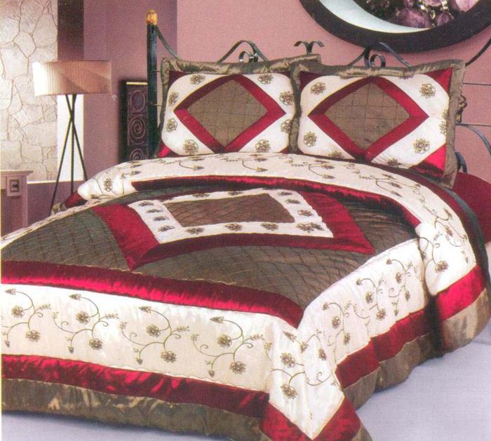 "Комплект для спальни СайлиД ""Adalia"": покрывало 230 х 250 см, наволочки 50 х 70 см"