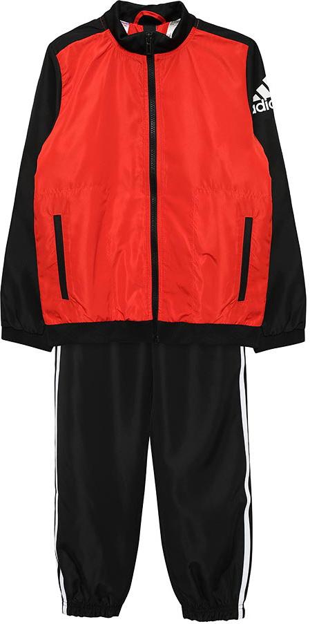 Спортивный костюм для мальчика Adidas Yb Woven Ts Ch, цвет: красный, черный. BQ3010. Размер 152 шорты для мальчика adidas yb ess m3s wvsh цвет черный ab6025 размер 128
