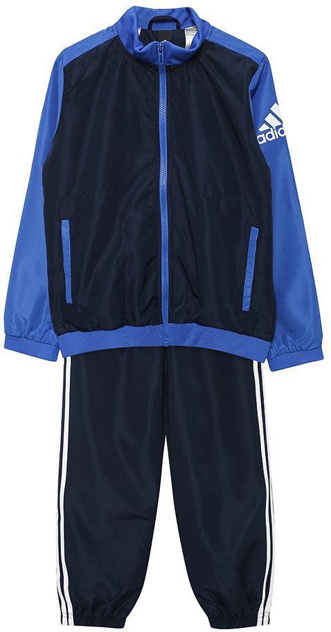 Спортивный костюм для мальчика Adidas Yb Woven Ts Ch, цвет: синий. BQ3012. Размер 152 шорты для мальчика adidas yb ess m3s wvsh цвет черный ab6025 размер 128
