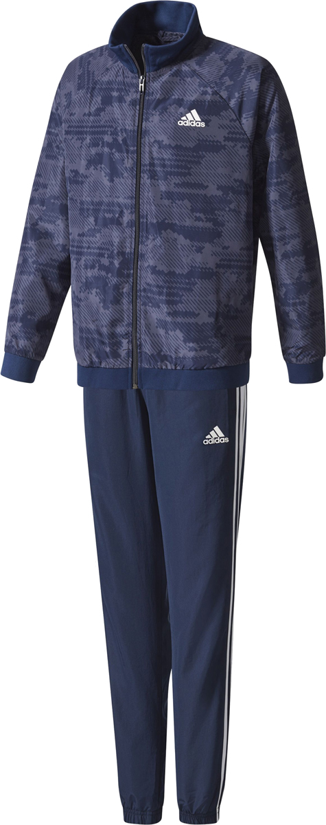 Спортивный костюм для мальчика Adidas Yb Woven Ts Ch, цвет: синий. CF2673. Размер 152 шорты для мальчика adidas yb ess m3s wvsh цвет черный ab6025 размер 128