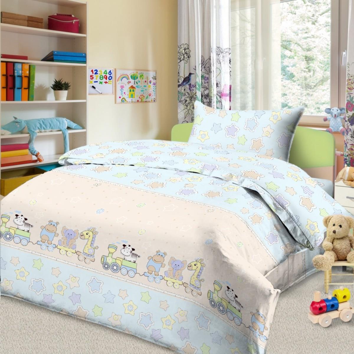 Фото Комплект в кроватку Letto, цвет: голубой. BGR-86