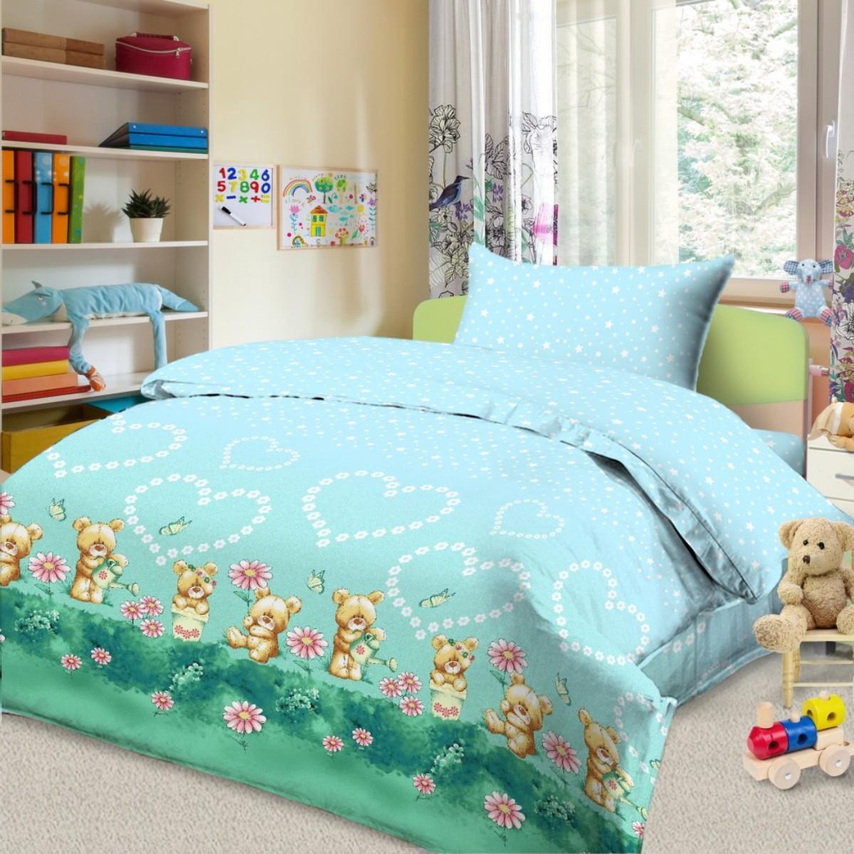 Letto Комплект в кроватку цвет голубой BG-89
