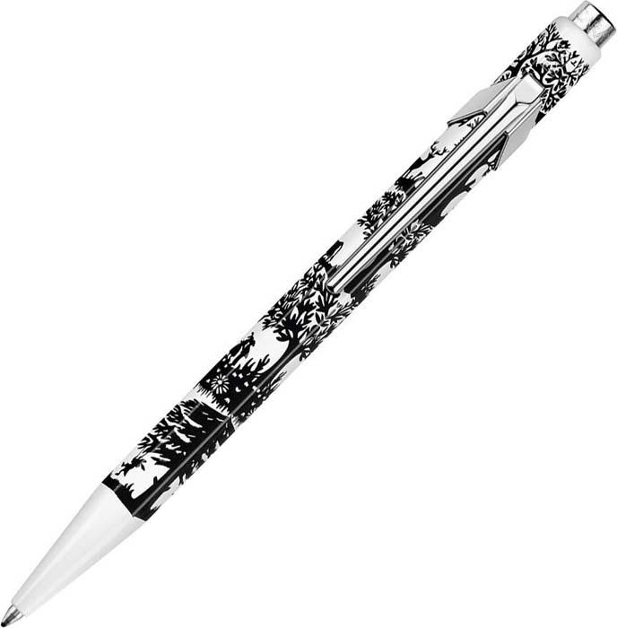 Caran d'Ache Ручка шариковая Office 849 Pop Line цвет корпуса: синий, белый, цвет чернил: синий -  Ручки