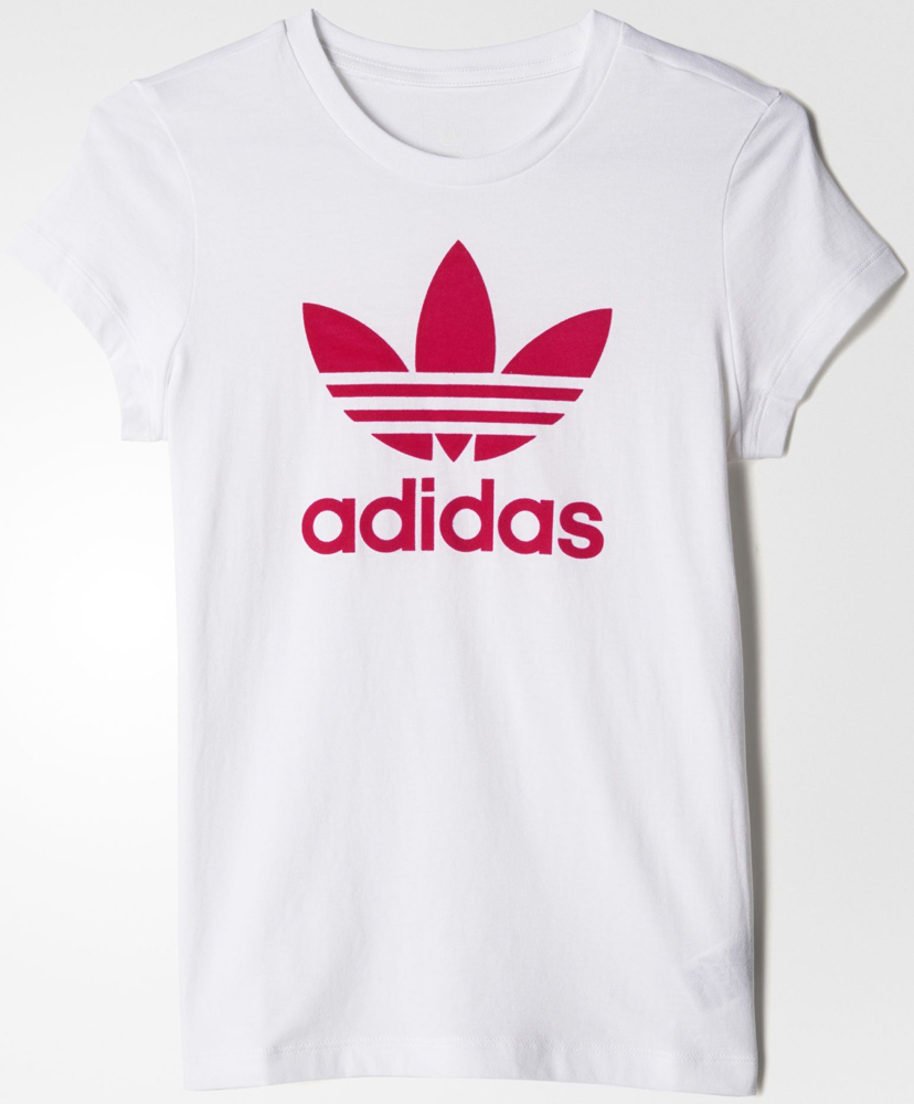 Футболка для девочки Adidas J Trf Ft Ctee, цвет: белый, розовый. BK2019. Размер 152 original new arrival 2017 adidas performance mv pt ch ft 3s women s pants sportswear