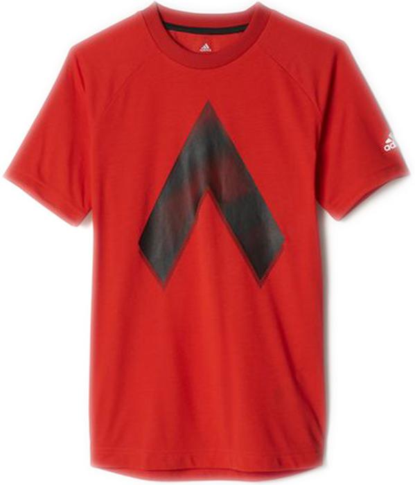 Футболка для мальчика Adidas Yb Ace Grap Tee, цвет: красный. BQ2927. Размер 152 футболка спортивная adidas performance adidas performance ad094emuoe67