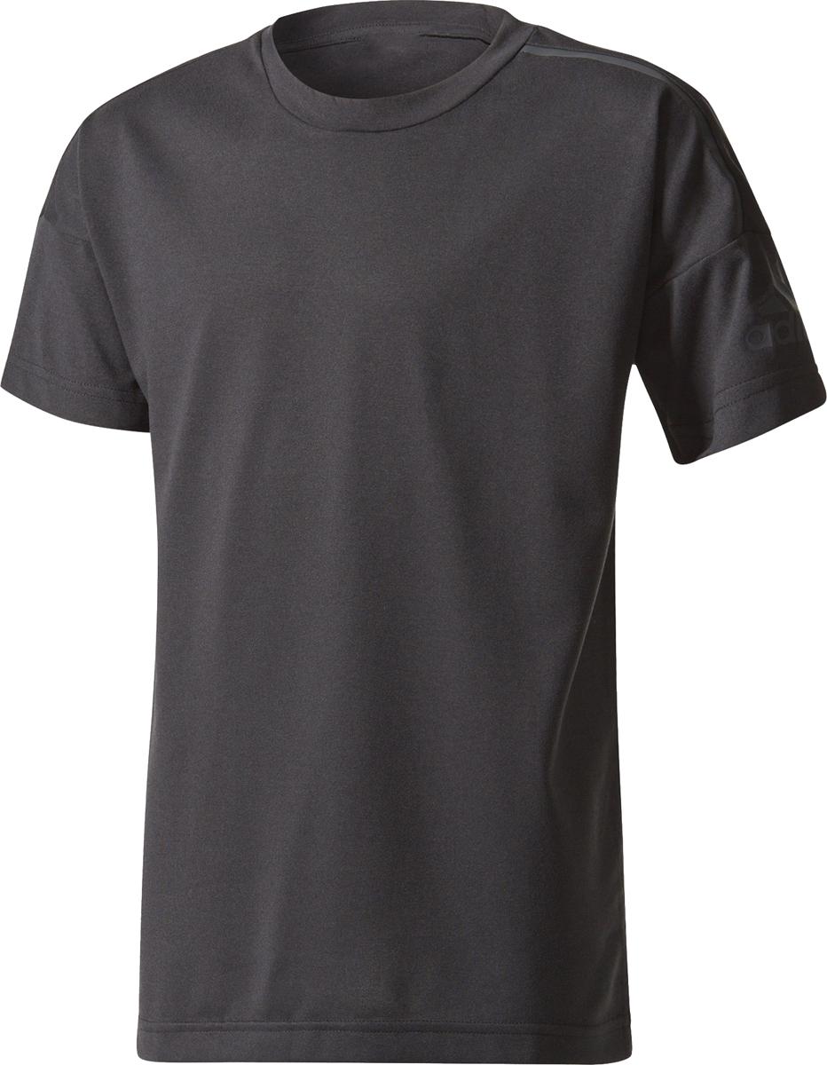 Футболка для мальчика Adidas Yb Zne Tee, цвет: черный. CF2553. Размер 152 шорты для мальчика adidas yb ess m3s wvsh цвет черный ab6025 размер 128
