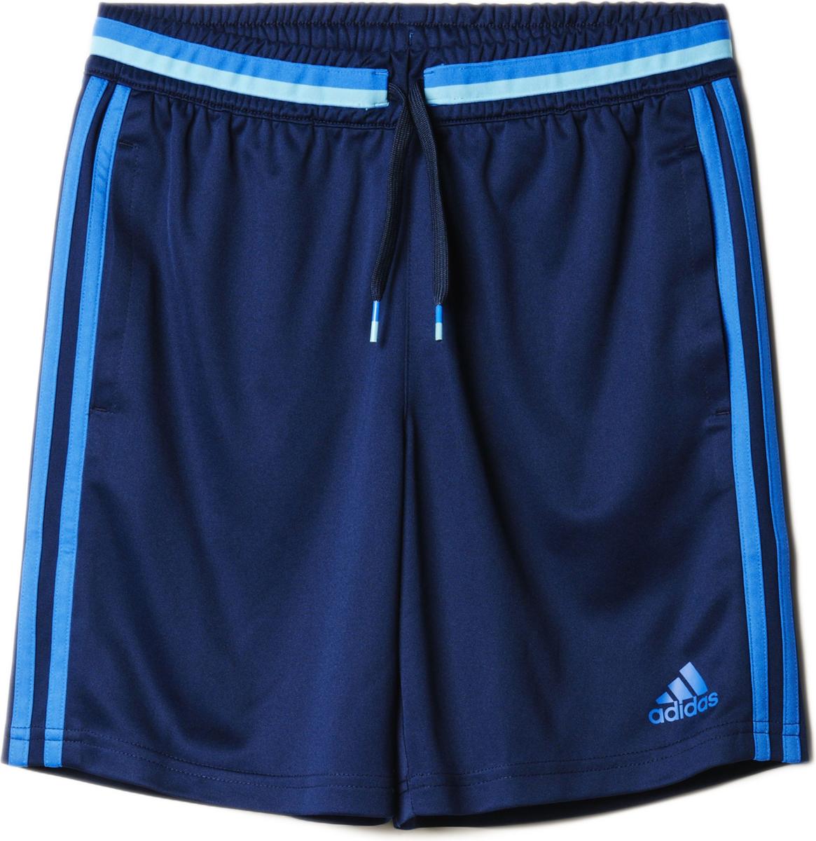 Шорты для мальчика Adidas Con16 Trg Sho Y, цвет: синий. AB3115. Размер 164 шорты adidas боксёрские боксерские amateur boxing shorts красные размер s артикул aditb152