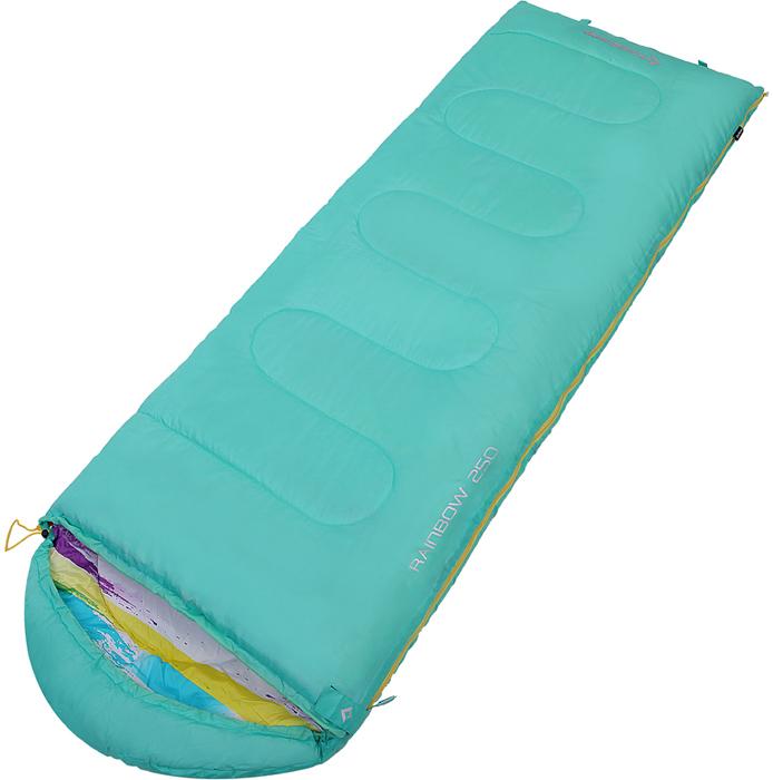 Спальный мешок-кокон KingCamp Rainbow 250, правосторонняя молния, цвет: бирюзовый упоры для отжиманий atemi металлические apu 02