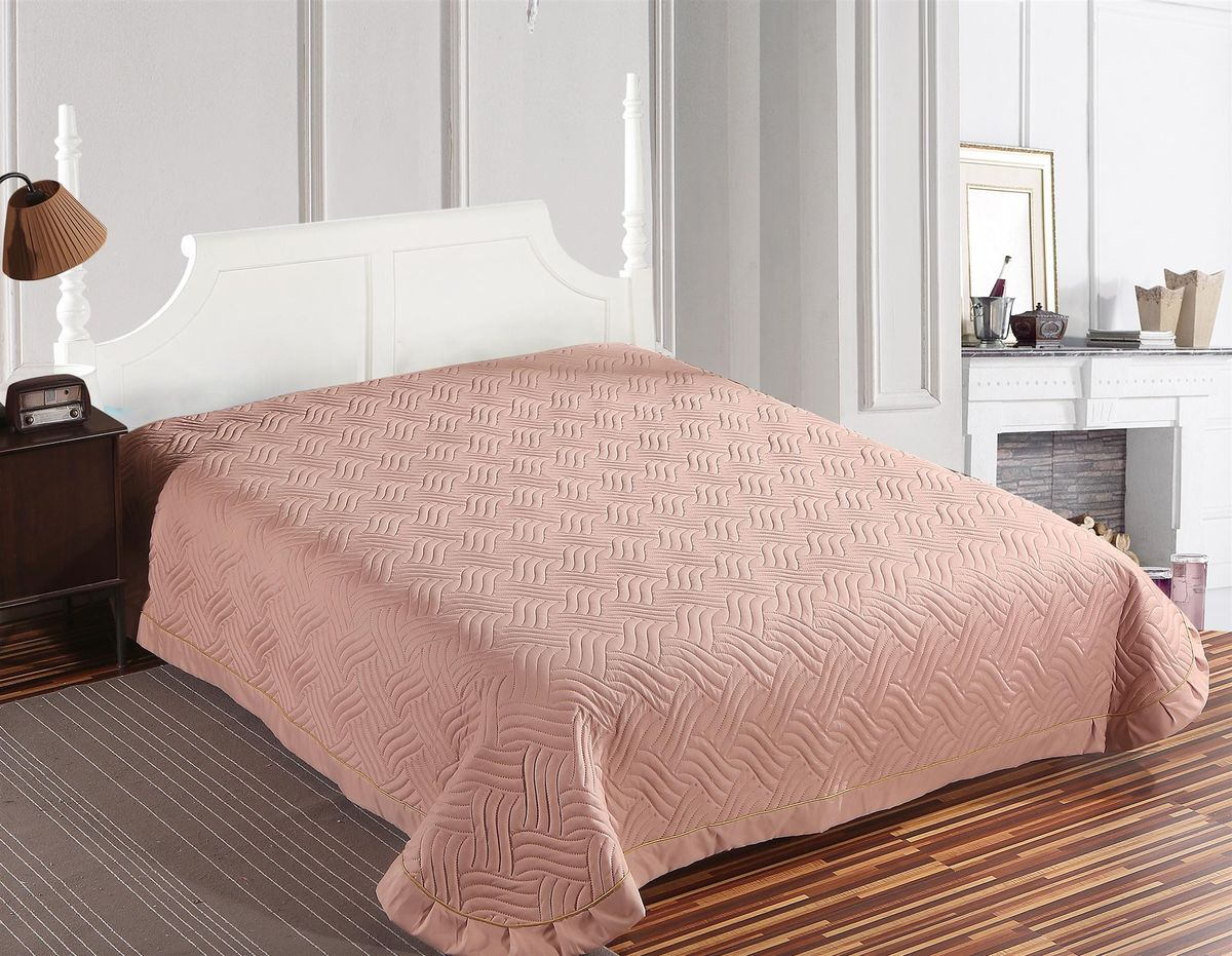Покрывало стеганое SL, цвет: розовый, 220 х 240 см